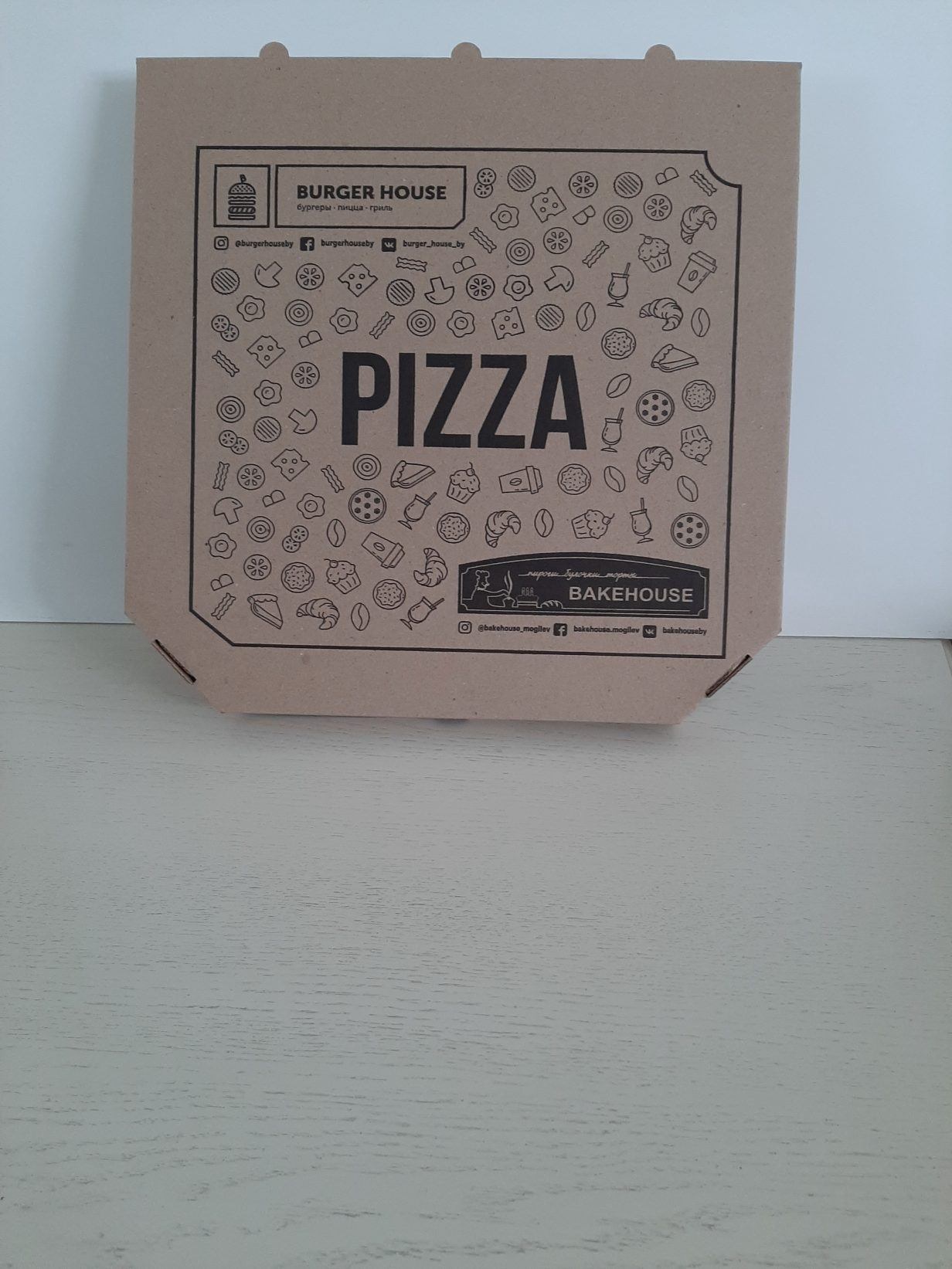 Пример упаковки под пиццу