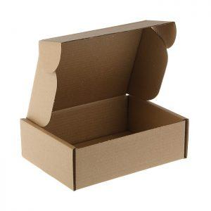 Средние коробки из гофрокартона.